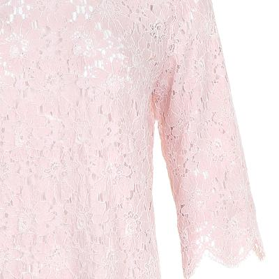 scallop shape lace blouse pink
